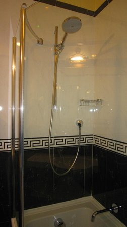 Hotel Manfredi Suite in Rome: Good size shower