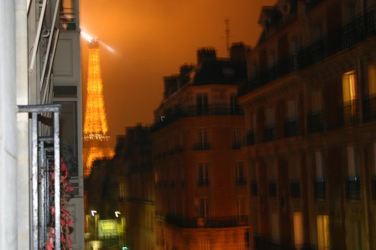 Hotel Elysees Union: If you have a street view room, look left and you will see the Eiffel Tower