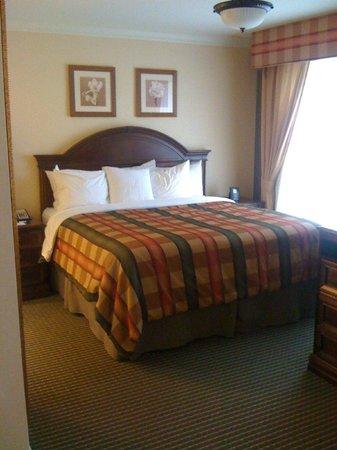 Homewood Suites Long Island - Melville : Bedroom area in suite.