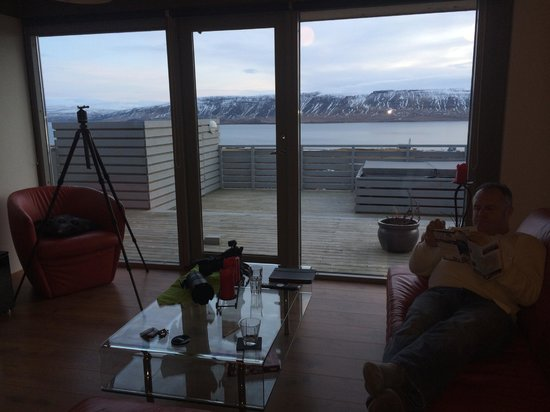 Hotel Glymur : View from living room of Villa Romance