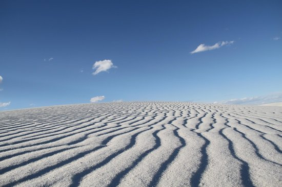 White Sands National Monument: Patterns of sands.