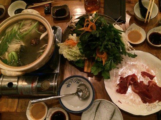 The Hashi: Sukiyaki at the ready