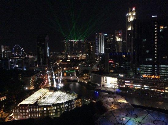 Novotel Singapore Clarke Quay: Daily MBS laser light form room 2019