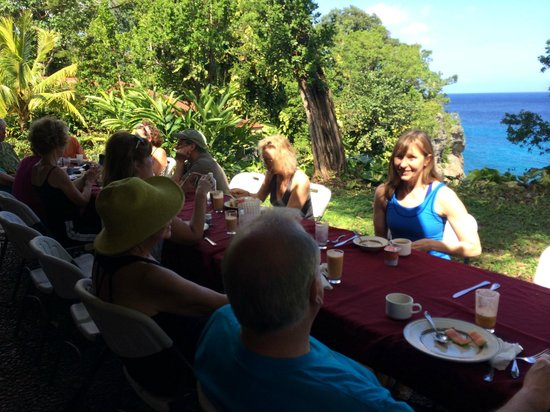 Frenchman's Cove Resort : Our Yoga Group Breakfast