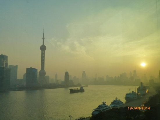 Banyan Tree Shanghai On The Bund: sunset