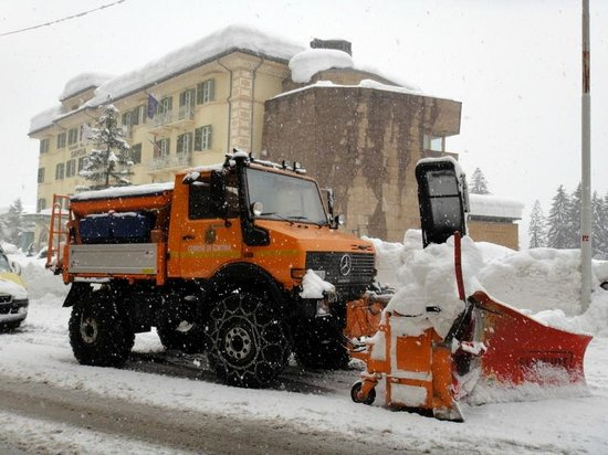 Grand Hotel Savoia: Рекордный снег в Альпах