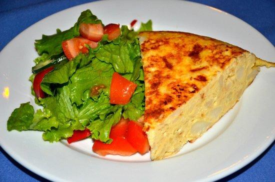 Kalapiti Luxury Jungle Suites: Spanish omelet