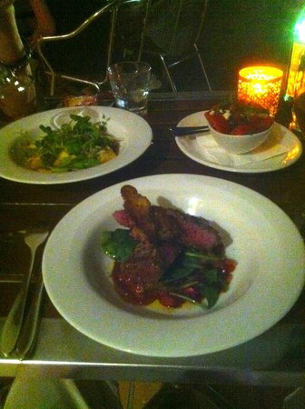 Sirocco Noosa: Lamb, Gnocchi and Tomato salad