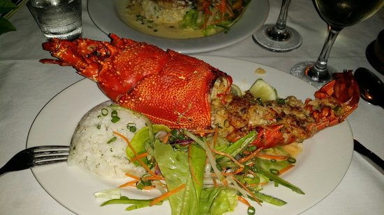 Breakas Beach Resort Vanuatu: Best lobster ever!