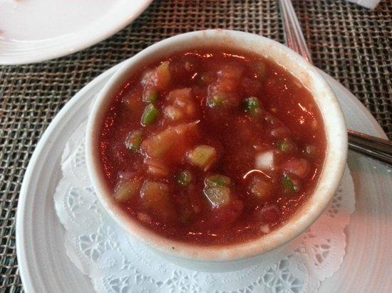 Harbor Grill Restaurant : Succulent, rich gazpacho