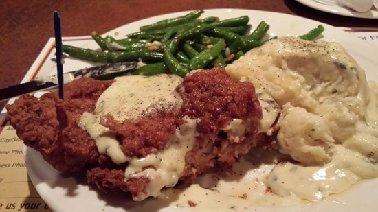 Ellis Island BBQ: Chicken fried steak dinner...omg