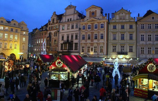 Grand Hotel Bohemia: Christmas markets in old town square
