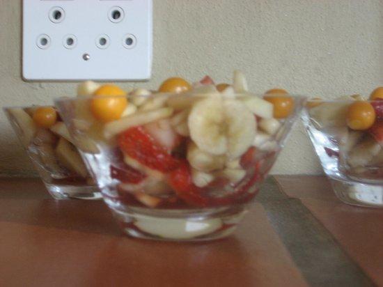 Villa Montebello: het ontbijtbuffet