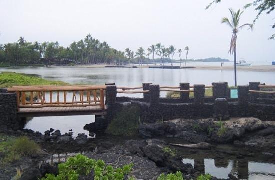 Marriott Waikola Beach: fish pond