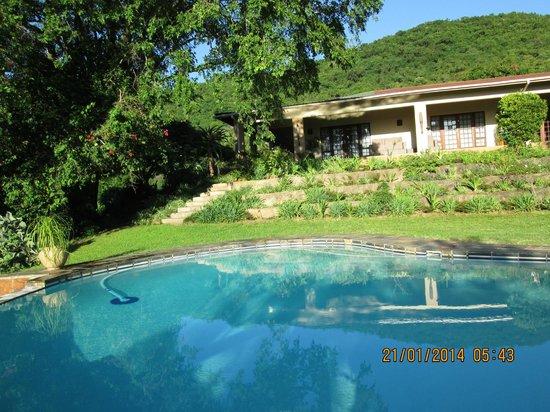 Abangane Guest Lodge: zicht op onze kamer
