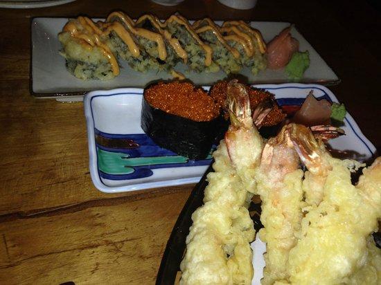 The Hashi: roll nigiri tempura