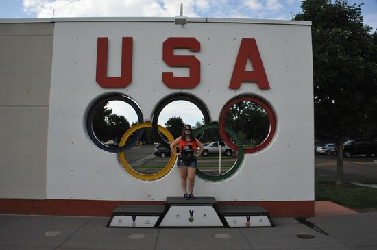 Olympic Training Center : Me in front of the USA sign.