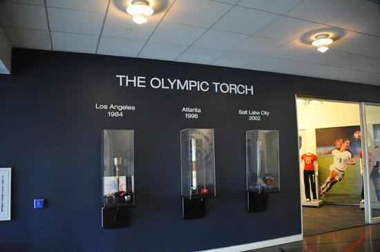 Olympic Training Center: The Olympic torch.