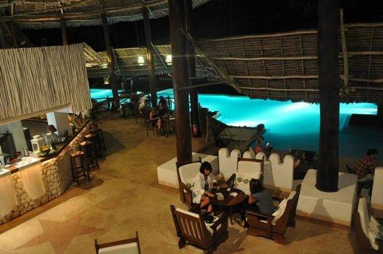 Diamonds Mapenzi Beach: Pool Bar area with great Wifi reception
