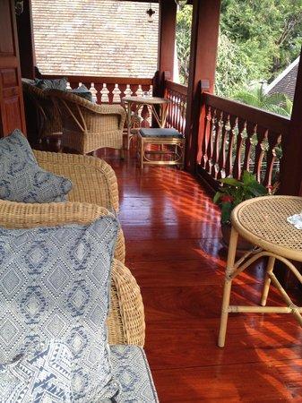 Mekong Riverview Hotel: Verandah