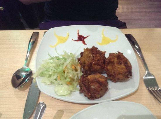 Mint Indian Restaurant: onion bhaji starter