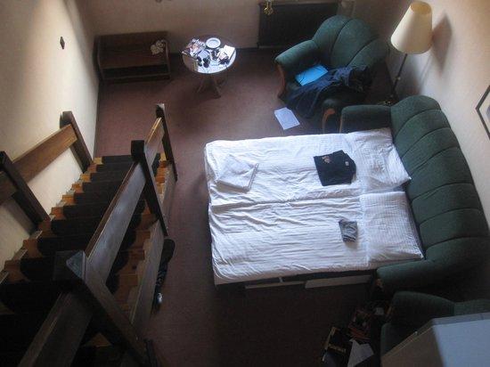 Rubin Wellness & Conference Hotel Budapest: chambre en duplex