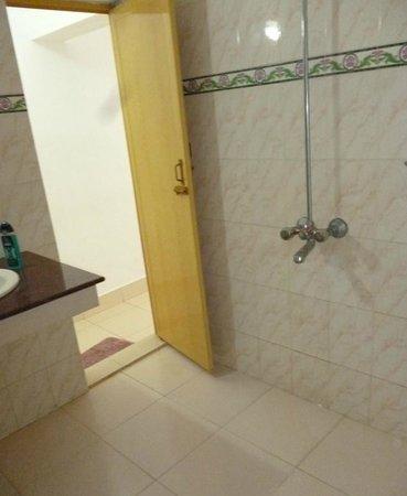 Jeevan Beach Resort: wet shower room and toilet