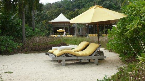 Soneva Kiri: Private Beach Area