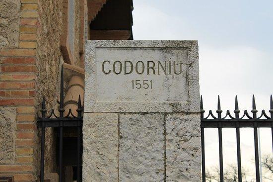 Bodegas Codorniu: Placa