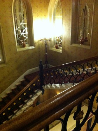 Grand staircase of Randolph Hotel. Very pretty. Goes to 3rd floor