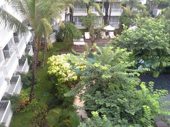 Fontana Hotel Bali: View from balcony