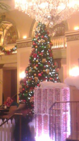 Omni William Penn Hotel: The Christmas tree I really enjoyed,  I had 2 visits in December.