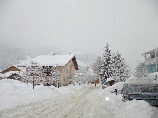 Alpine Residence Villa Adler: dalla camera... durante la nevicata