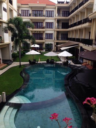 Kuta Townhouse Apartments: View from second floor