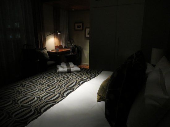 Moody Shot Of Our Room With Just The Overhead Night Light