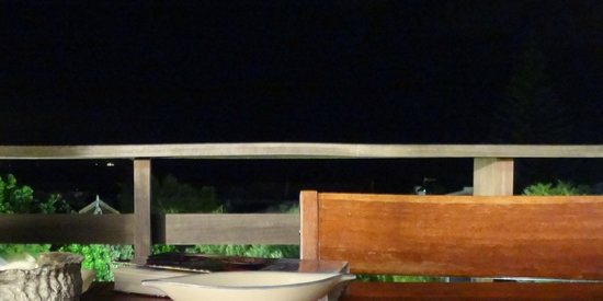 Villa Blu: The view from the deck at night - the ocean sounds