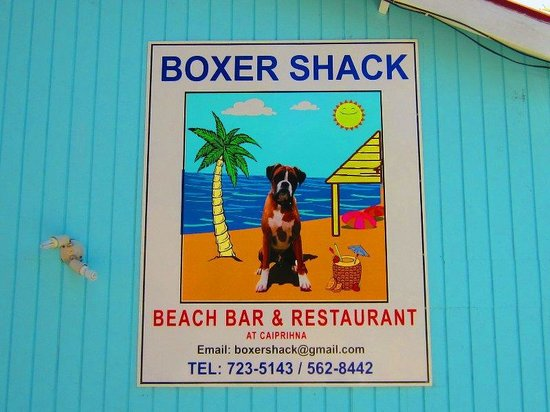 Boxer Shack: The sign