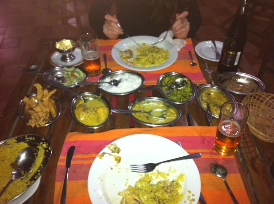 Namala Holiday Resort : Le fameux rice and curry