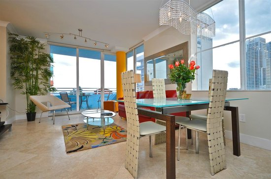 Ocean Place: One of the beautiful units for rent - set for full dining with ocean views