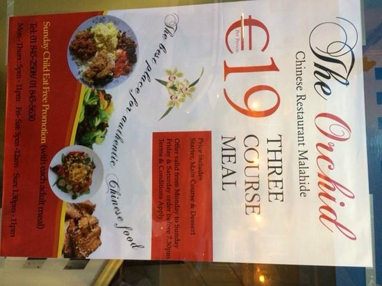 """The Orchid Chinese Restaurant: """"Sunday Child Eat Free Promotion Poster"""""""