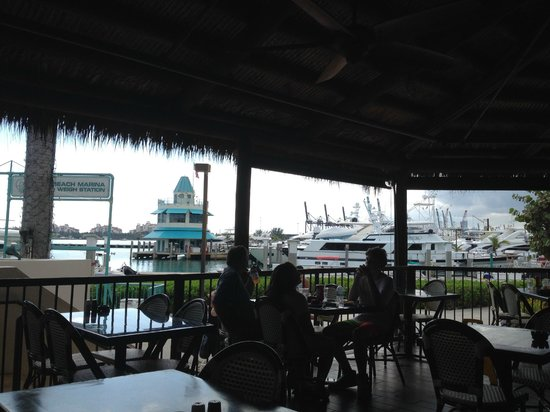 Monty's Raw Bar: Front porch with a nice view