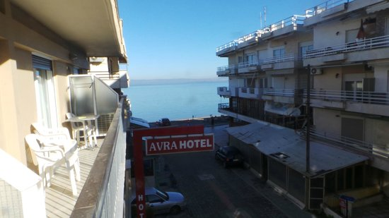 Hotel Avra: View from second floor.