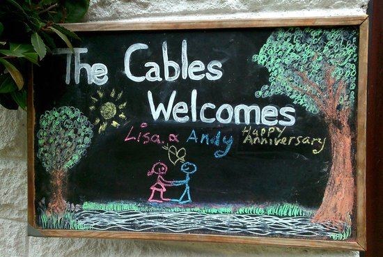Cables B&B: The beautifully personalised welcome sign