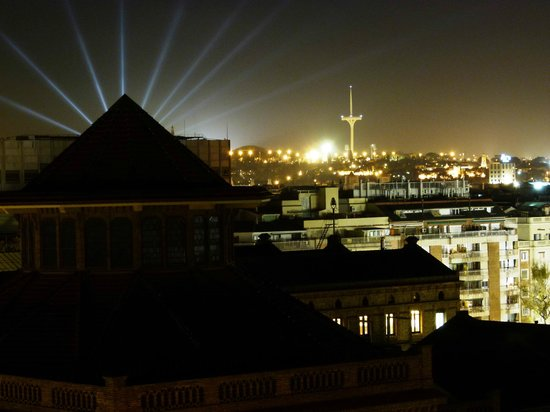 U232 Hotel: view from room 909 at night