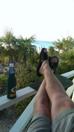 Sammy T's Beach Resort: view from the gazebo with kalik