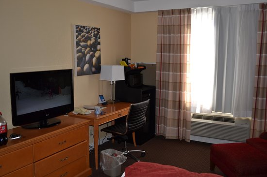 Fairfield Inn & Suites Ottawa Kanata: Холодильник, микроволновка, телек