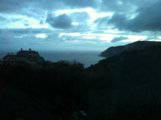 Sinai House: Dawn over Bristol Channel from Lynton