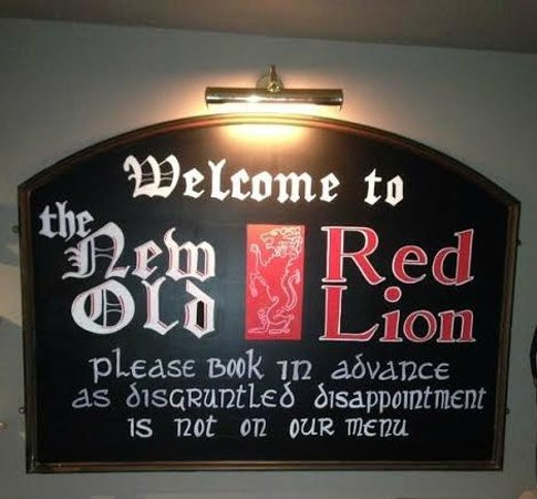 The Red Lion: Welcome