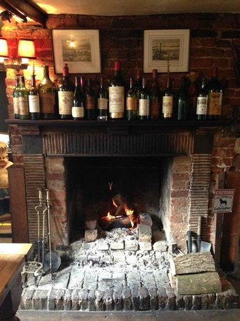 The Red Lion: Cosy open fire