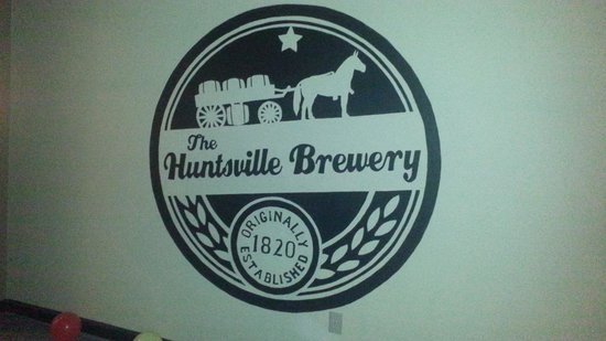 The Huntsville Brewery: Logo wall